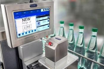 LINX SL302 installation on glass bottles
