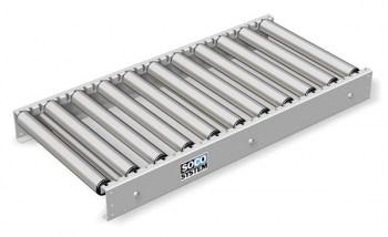 Roller conveyors with 48 mm plastic rollers